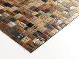 Leren vloerkleed Labelplus 598 Multicolor_