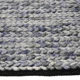 Vloerkleed gemaakt van 100% wol Barony blauw_