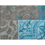 Aanbieding vloerkleed Dalyan Patch Vintage Turquoise _
