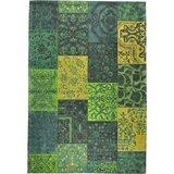 Patchwork Vintage vloerkleed Geel Groen_