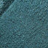 Effen vloerkleed zuiver wol Sera kleur turquoise_