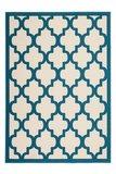 Modern vloerkleed Dolf Ivoor Turquoise_