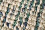 Wol vloerkleed Retro Teal / Turquoise_