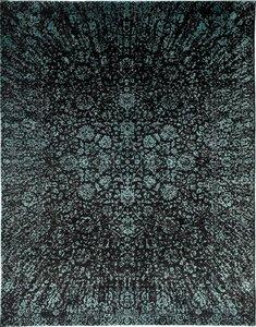Handgemaakt vloerkleed Art Grijs Turquoise 193