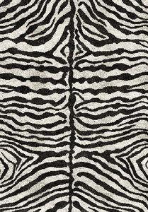 Hoogpolig vloerkleed Jack 301 kleur Zwart