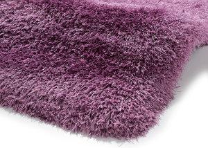 Handgemaakt effen hoogpolig vloerkleed Monza de Luxe kleur lila