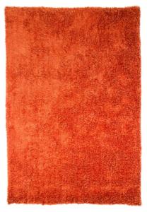 Hoogpolig oranje vloerkleed Grandeur