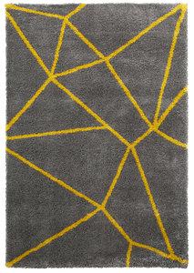 Hoogpool vloerkleed Norman kleur grijs geel 5746
