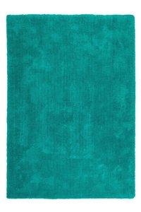 Hoogpolig turquoise vloerkleed of tapijt Komodo