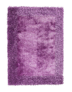 Effen vloerkleed Comfort purple 2
