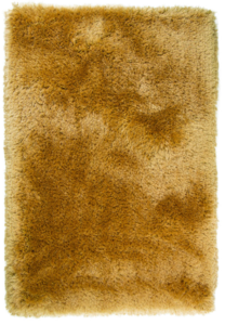 Hoogpolige vloerkleed Promisse kleur mustard