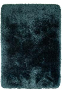 Hoogpolige vloerkleed Promisse kleur turquoise