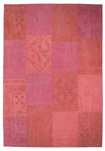 Patchwork vloerkleed Lira Multicolor rood