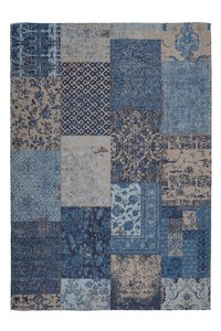 Katoenen vloerkleed George blauw