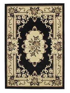 Oriental vloerkleed kleur zwart