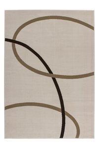 Modern vloerkleed Rols kleur ecru