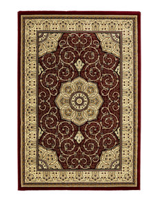 Klassiek vloerkleed Hermirage kleur rood 4400