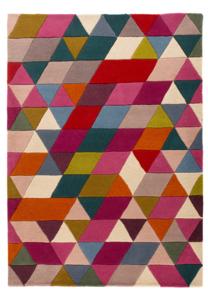 Wol vloerkleed Prisma kleur multi