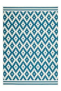 Designer vloerkleed Stellos Ecru Turquoise