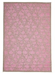 Vintage kortpolige vloerkleden en karpetten Pink Limnos