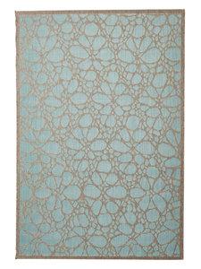 Vintage vloerkleed laagpolig Aqua Limnos