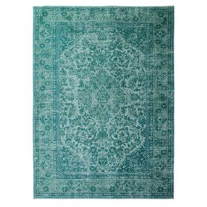 Vintage vloerkleed Luxery kleur turquoise