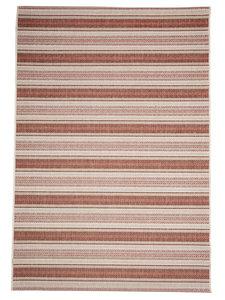 Gestreept modern vloerkleed of karpet Patmos Roest Rood