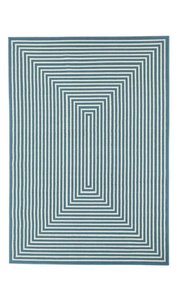 Blauw modern exclusief vloerkleed Thera