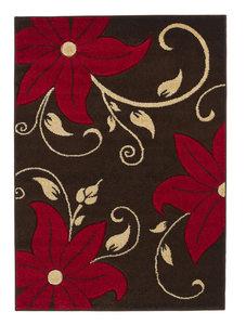 Aanbieding vloerkleed Victoria kleur bruin rood OC15