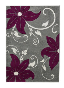 Aanbieding vloerkleed Victoria kleur grijs purple OC15