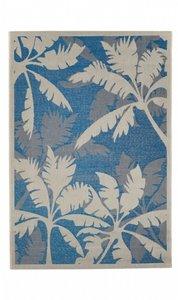 Outdoor en indoor vloerkleed Subeam kleur blauw