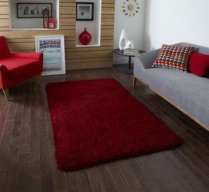Hoogpolig vloerkleed Montblanc kleur rood