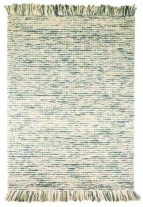 Wollen vloerkleed Retail kleur turquoise