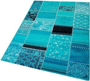 120x170cm Vloerkleed Patchplus Blauw 3830