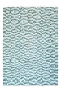 Katoen vloerkleed Retif turquoise