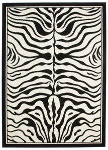 Zebra vloerkleed Transit Zwart Wit