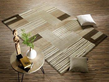 Nepal handgeknoopt vloerkleed en tapijt Fancy 469 Beige