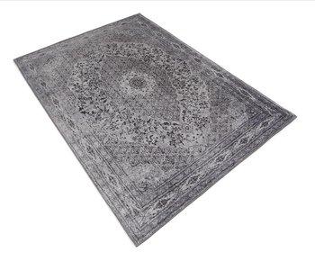 Chenille vloerkleed Tabriz   Zwart