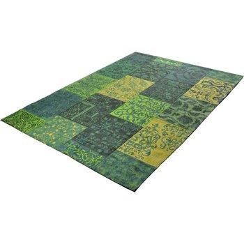 Patchwork Vintage vloerkleed Geel Groen