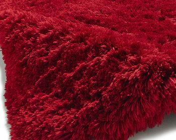 Prachtig hoogpolig vloerkleed Poolstar rood PL95