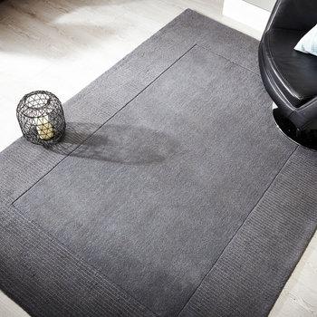 Zuiver wol vloerkleed Tosca kleur grijs