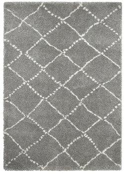 Hoogpool vloerkleed Norman kleur grijs creme 5413