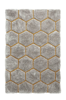 Bolcom vloerkleed kleur grijs geel NH30782