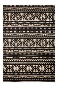 Katoen vloerkleed Sandos 100 kleur Zwart Naturel