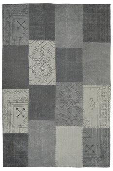 Patchwork vloerkleed Lira Multicolor grijs