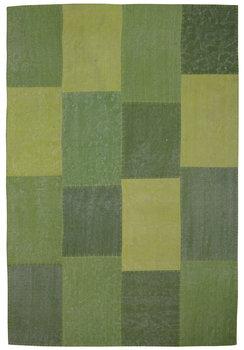 Patchwork vloerkleed Lira Multicolor groen