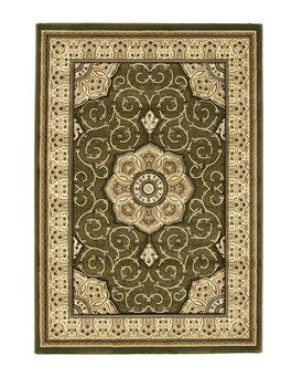 Klassiek vloerkleed Hermirage kleur groen 4400