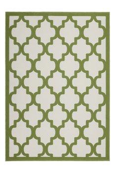 Modern vloerkleed Dolf Ivoor Groen