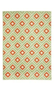 Moderne voerkleden en tapijten groen Rhodos