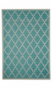 Outdoor en indoor vloerkleed Chicago kleur turquoise